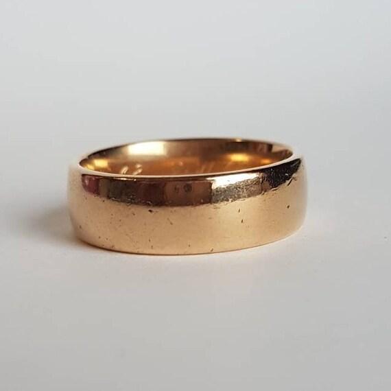 Heavy 18k men's engagement or wedding ring