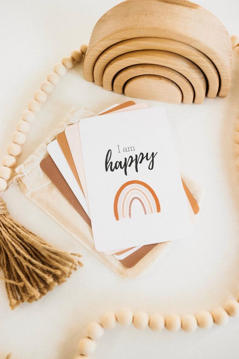 Kids Positive Affirmation Cards Mindfulness affirmation image 0