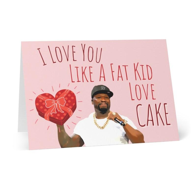 50 cent Valentine\u2019s Day card Hip Hop Valentines Day Cards 50 Cent Card Valentine\u2019s Day card Rap Valentine\u2019s Day card