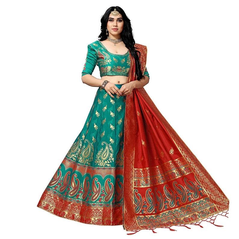 Embroidered Lehenga Banarasi Jacquard S Lehenga Traditional Lehenga Designer Wedding Lehenga Wedding Lehenga Party Wear Lehenga,