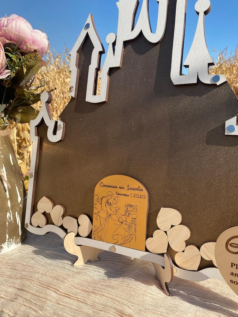Cinderella castle wedding guest book alternative Cinderella wedding guest book