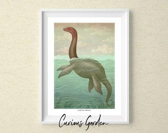 Loch Ness Monster - Cryptid Art Print