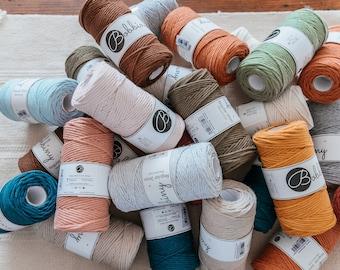 Bobbiny macrame yarn 3 mm premium, various lengths 5 m/10 m/15 m, DIY macrame