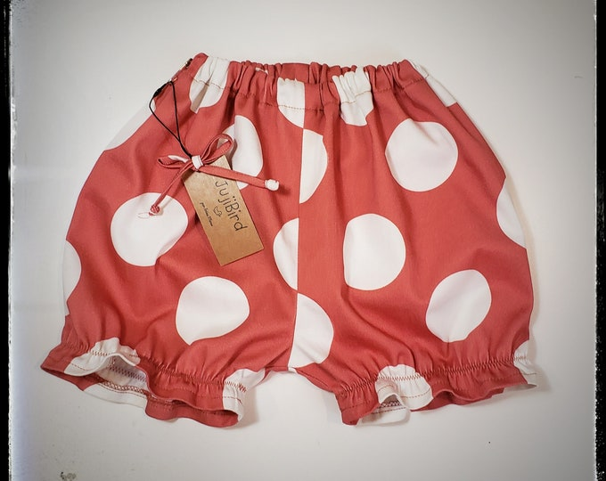 GIGI~ baby girl, toddler polka dot cotton bloomers, summer shorts outfit, 1 first birthday party, cake smash MADE to ORDER