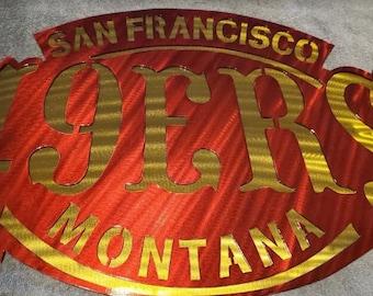 SAN FRANCISCO 49ERS  Metal Art