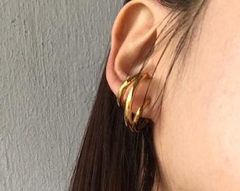 Dangle Ear Cuff Plain Ear Cuff 50 Pcs 9mm Rhodium Plated Ear Cuff Silver Plated Findings Statement Ear Cuff CMR42 Non Pierce Ear Cuff