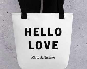 TVD Merch The Originals Tote Hello Love Klaus Mikaelson Tote The Vampire Diaries New Orleans LA Klaus Mikaelson