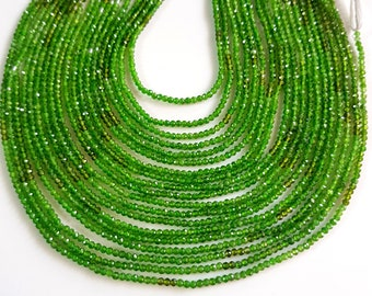 Natural Green Tourmaline Round Gemstone Green Tourmaline Faceted Balls Shape Beads 1 mm Size Approx 12.5 inch Strand SA No- 1158