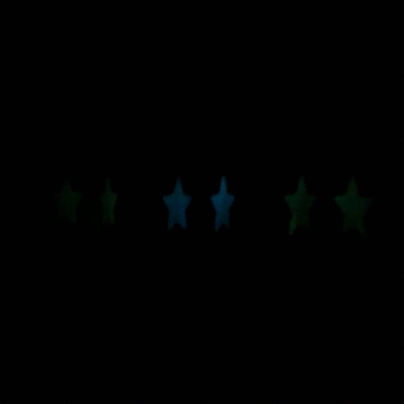 glow in the dark star earrings!