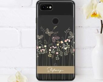 Watercolor Flowers 3A Google Pixel 2 XL Case Floral Google Pixel XL Case Spring Google Pixel 3 Clear Cover Cute Google Pixel Cover CM1351