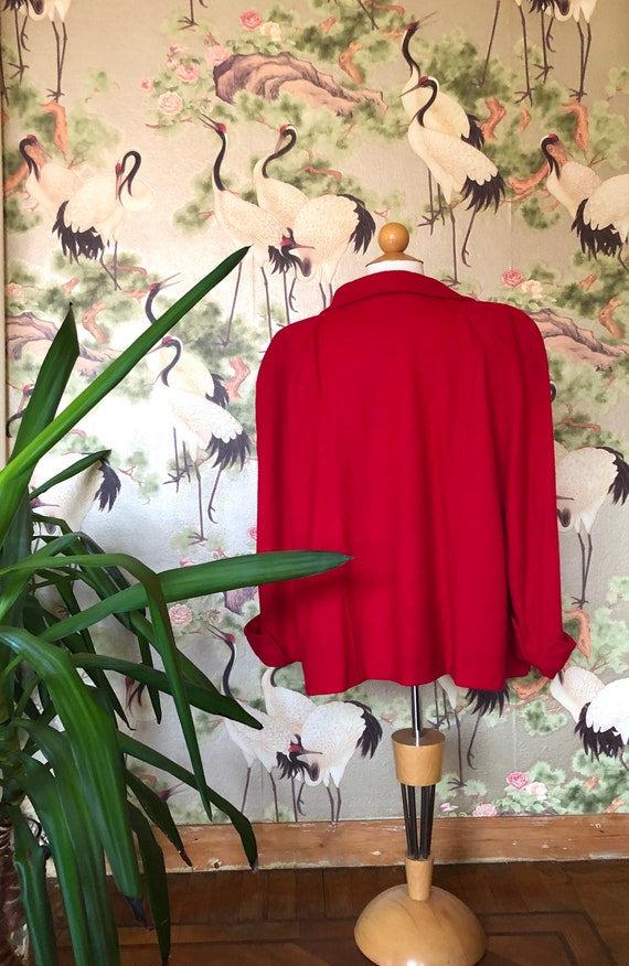 Bright red swagger 40s  swing jacket.