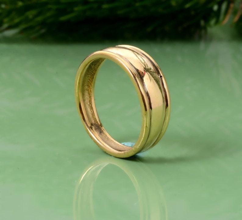 Plain Brass Ring,Brass Band Ring,Vintage Rings,Handmade Ring,Unique Rings,Signet Ring,Gift Ring,Anniversary Ring,Wedding Ring,Gift For Her