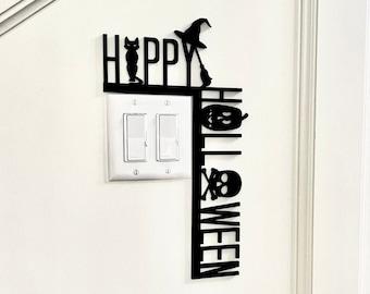Happy Halloween Wall Decor Door Corner Sign | Witch Halloween Decor, Halloween Decorations | Halloween door sign, Halloween Wall Decor