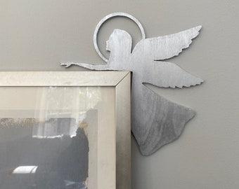 Guardian Angel Wood Sign, Angel Door Corner Decor, Christmas Angel Corner Sign