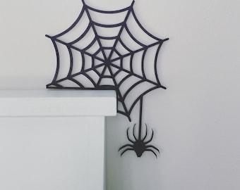 Halloween Door Corner Sign, Spider Web Halloween Decor, Halloween Spider Sign, Fall Decor