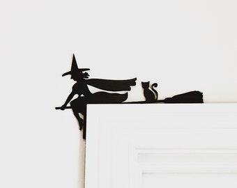 Halloween Door Corner Sign, Witch Halloween Decor, Halloween Witch Sign, Fall Decor,