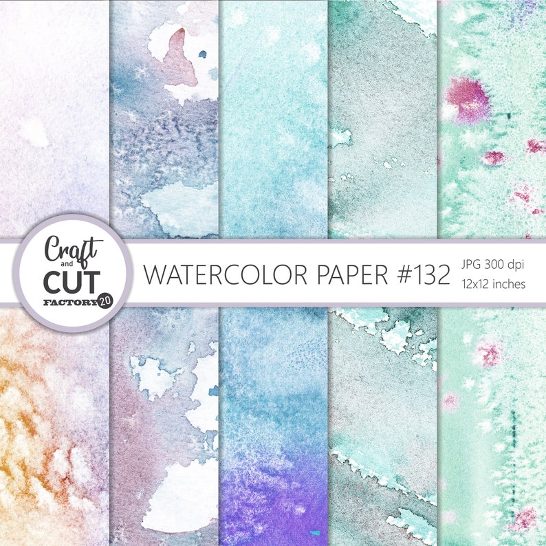 Commercial Use Printable Watercolor Digital Paper #132 Watercolor Textures Watercolor Backgrounds