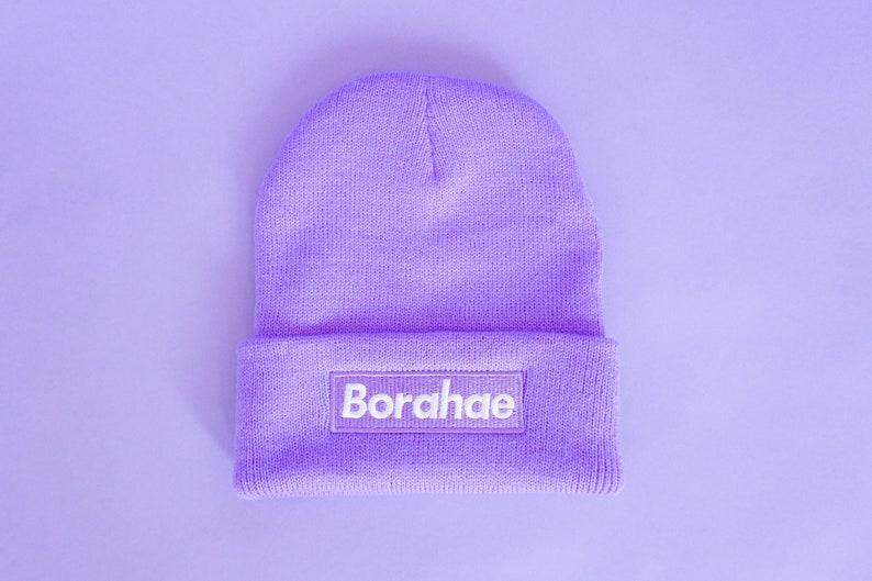 Inspired by BTS V Kim Taehyung BTS X ARMY Borahae I Purple You Winter Beanie