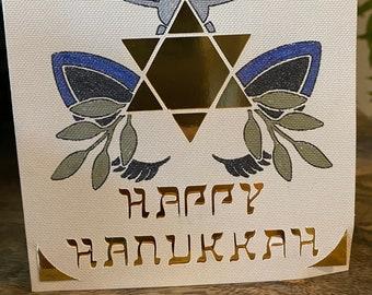 Unicorn Hanukkah Card