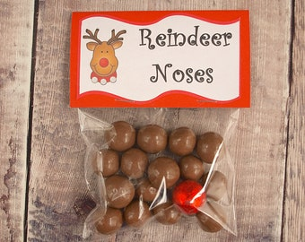 Reindeer and Red Noses Novelty Sweets Christmas Eve Box Stocking Filler