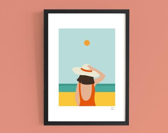 Lámina Días de Playa · 30x42