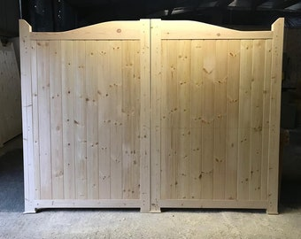 Wooden Gates Fully Boarded Design New Garden Driveway Bespoke Gate 3/' And 3/' 6/'/'