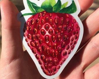 {4} SWEET BERRY Strawberry ~ Embellishment Birthday Topper Chipboard Die Cut