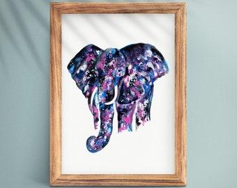 Elephant Creating the World Cosmic Fine Art Nature/'s Creator 5x7 Art Print