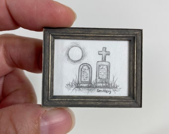 Original Pencil Drawing- The other two graves -1/12th Scale