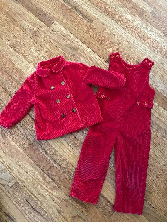Vintage kids corduroy suit