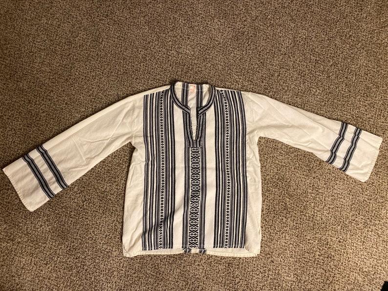 Vintage boho embroidered top