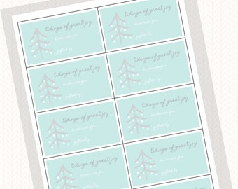 Tidings of Great Joy Printable Gift Tags, Digital Download for Knitters and Crocheters