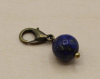 Natural Lapis Lazuli Beaded Stitch Marker