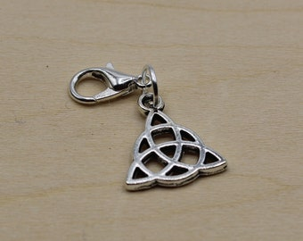 Celtic Knot Progress Keeper, Knitting Progress Keeper, Crochet Progress Keeper, Stitch Marker Charm, Planner Charm