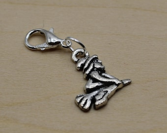 Witch Progress Keeper, Knitting Progress Keeper, Crochet Progress Keeper, Stitch Marker Charm, Planner Charm
