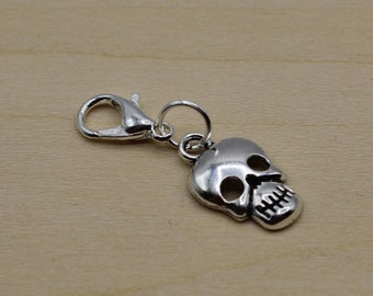 Skull Progress Keeper, Knitting Progress Keeper, Crochet Progress Keeper, Stitch Marker Charm, Planner Charm