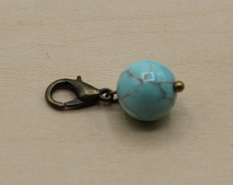Natural Turquoise Beaded Stitch Marker