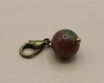 Natural Dragon Agate Beaded Stitch Marker