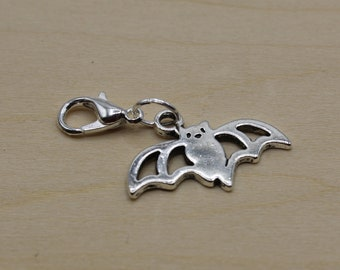 Vampire Bat Progress Keeper, Knitting Progress Keeper, Crochet Progress Keeper, Stitch Marker Charm, Planner Charm