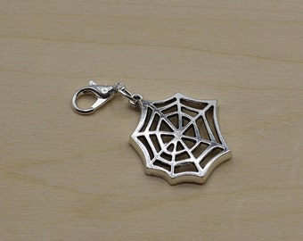 Spiderweb Progress Keeper, Knitting Progress Keeper, Crochet Progress Keeper, Stitch Marker Charm, Planner Charm