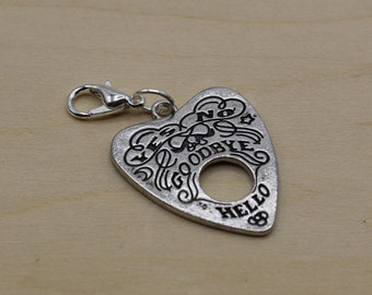 Spirit Board Planchette Progress Keeper, Knitting Progress Keeper, Crochet Progress Keeper, Stitch Marker Charm, Planner Charm