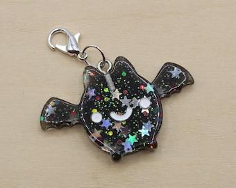 Glitter Bat Progress Keeper, Knitting Progress Keeper, Crochet Progress Keeper, Stitch Marker Charm, Planner Charm