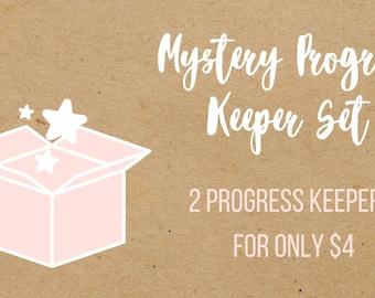 Mystery Progress Keeper Set, Knitting Progress Keeper, Crochet Progress Keeper, Stitch Marker Charm, Planner Charm