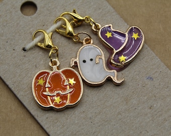 Spoopy Halloween Progress Keeper Set, Kawaii Halloween Charms