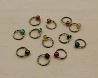 Autumn Leaves Beaded Stitch Markers