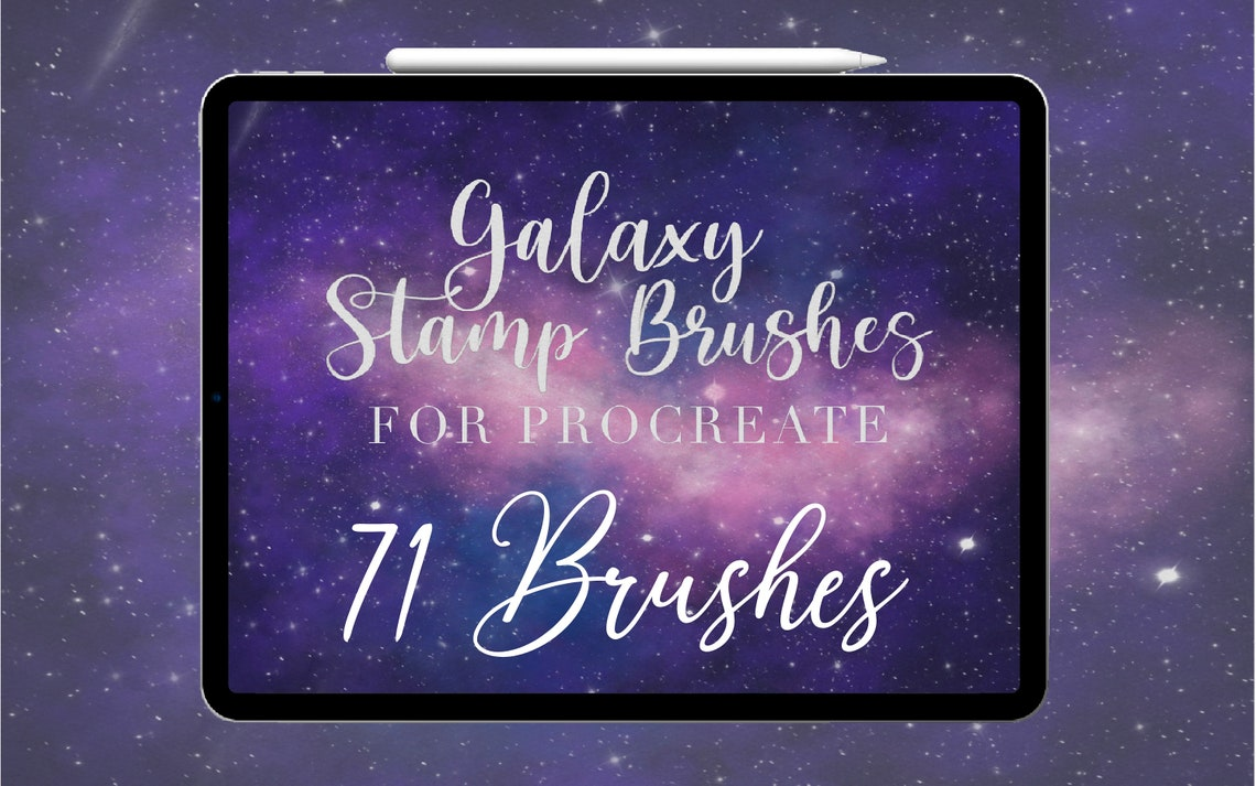 71 Galaxy Procreate Brushes & Stamps Color Palettes Moon image 0