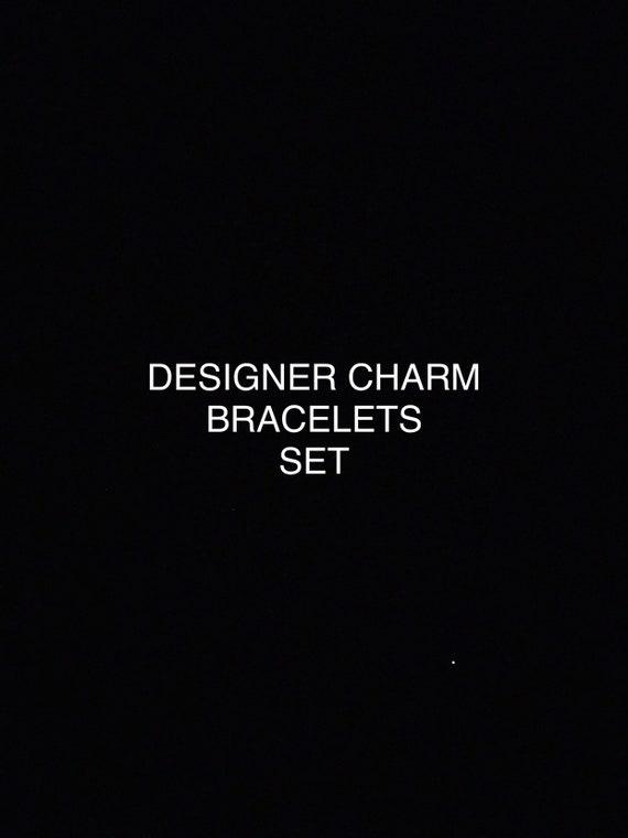 Designer Charms Bracelets Set