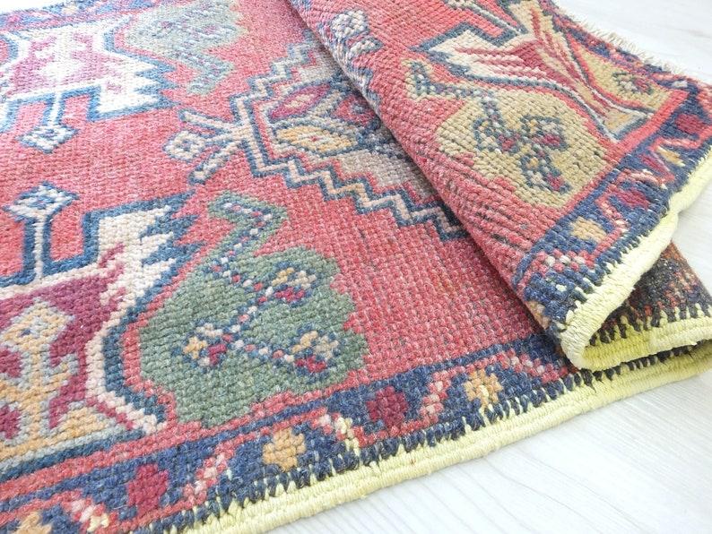 Turkish Rug,Antique Carpet,Low Pile Rug,Tribal Rug,Boho Decor Rug,Decorative RUg,Unique Mat,Handmade Door Mat,Kids Room. Unique Rug 1.6x3.2
