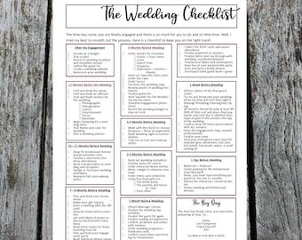 Wedding Plan Checklist, The Bride's Wedding Plan To-Do List