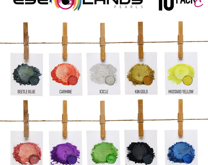 Eye Candy Mica Pigments 10 Color Variety Pack C- VARIETY